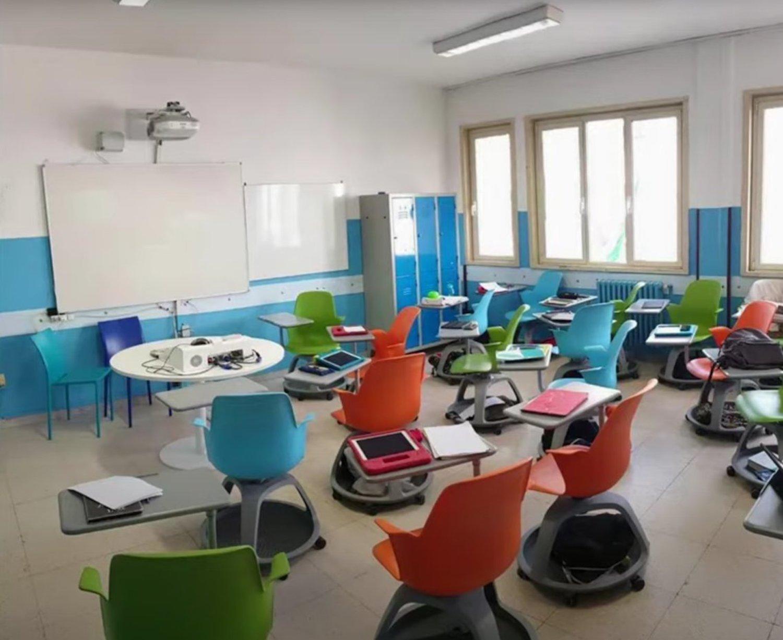 scuole banchi rotelle