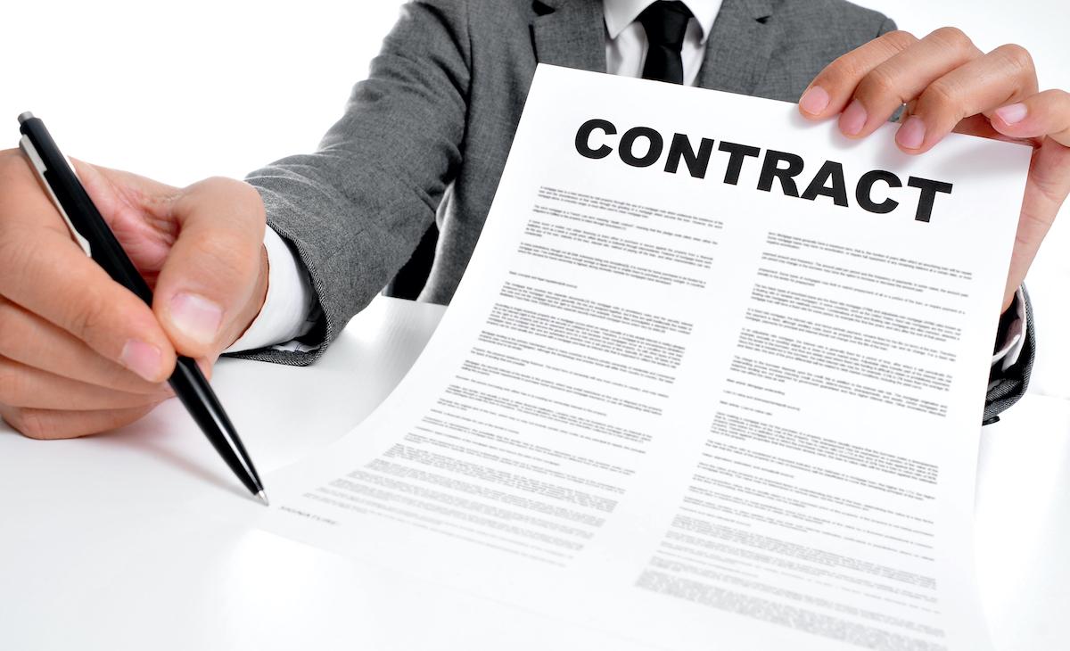 contratto a cui apporre una firma