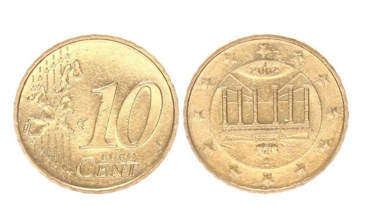 Moneta da 10 centesimi del 2002