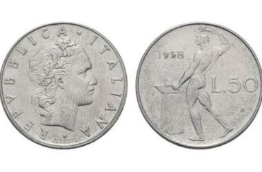 Il valore delle monete da 50 lire