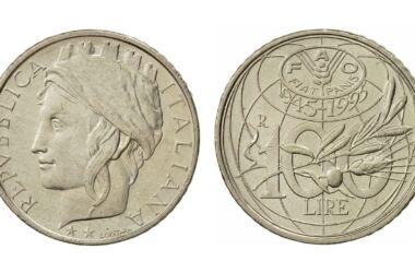 Valore moneta da 100 Lire FAO Fiat Panis