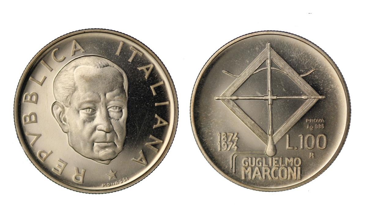 100 lire Guglielmo Marconi
