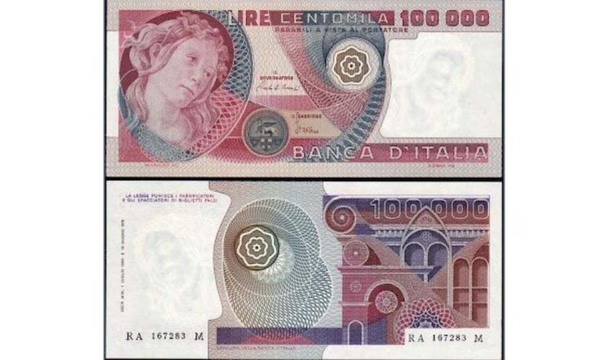 100.000 lire Primavera Botticelli