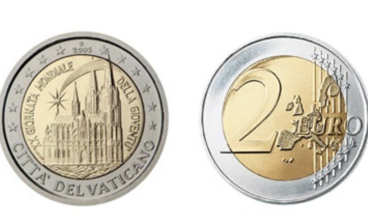 Valore dei 2 euro del Vaticano del 2005