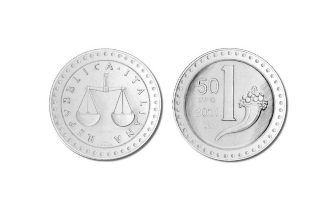 Prezzo e caratteristiche della moneta da 50 euro La Riedizione della Lira - 1 Lira