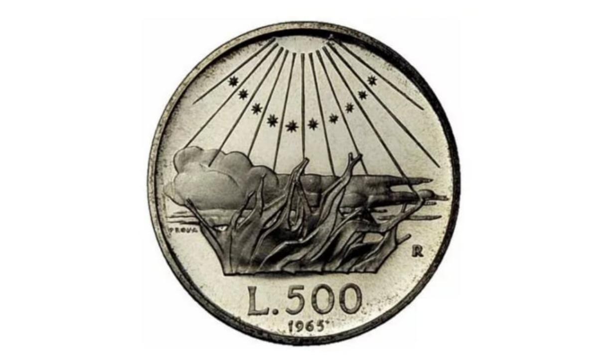 500 lire argento Dante Alighieri