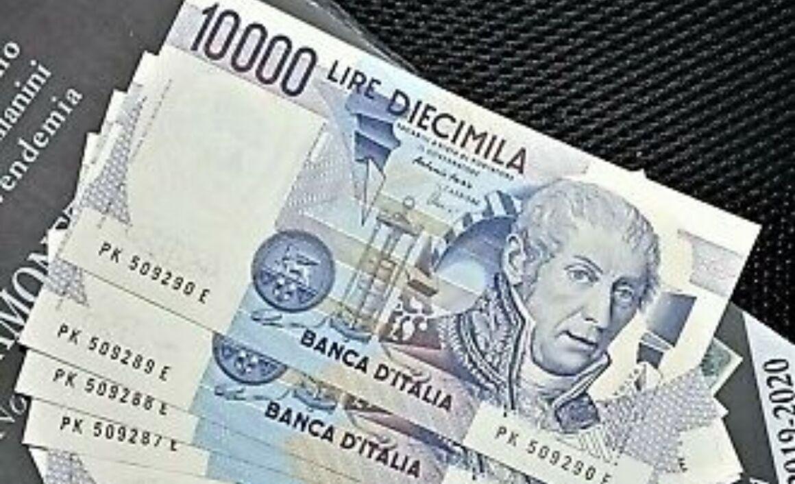 Valore della banconota da 10.000 lire di Alessandro Volta