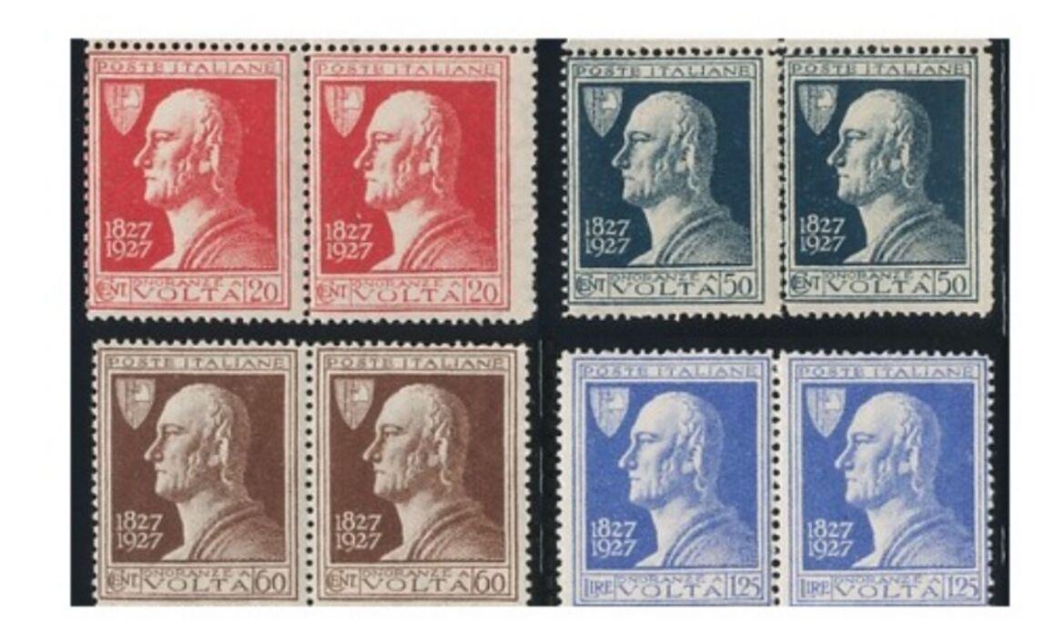 Valore francobollo Centenario della morte di Alessandro Volta