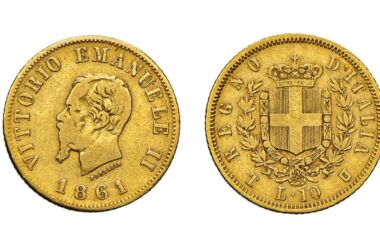 Moneta da 10 lire del Re Vittorio Emanuele II
