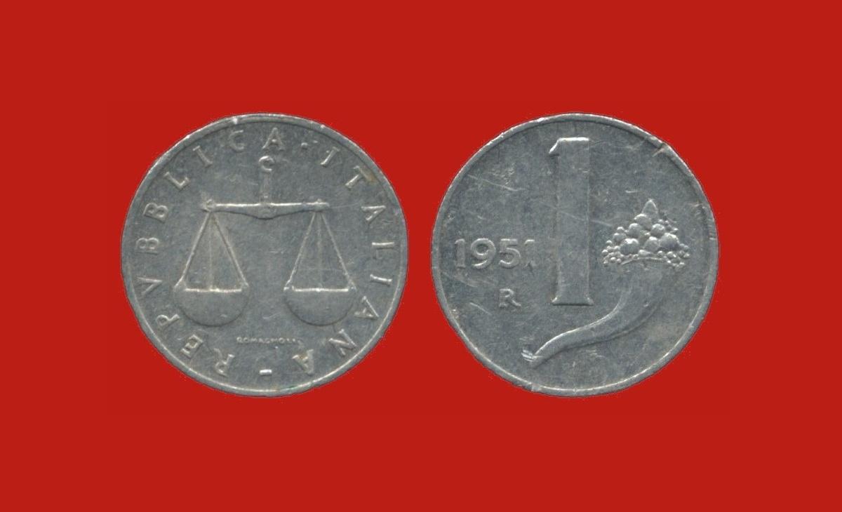 Valore della moneta da 1 Lira Bilancia Cornucopia