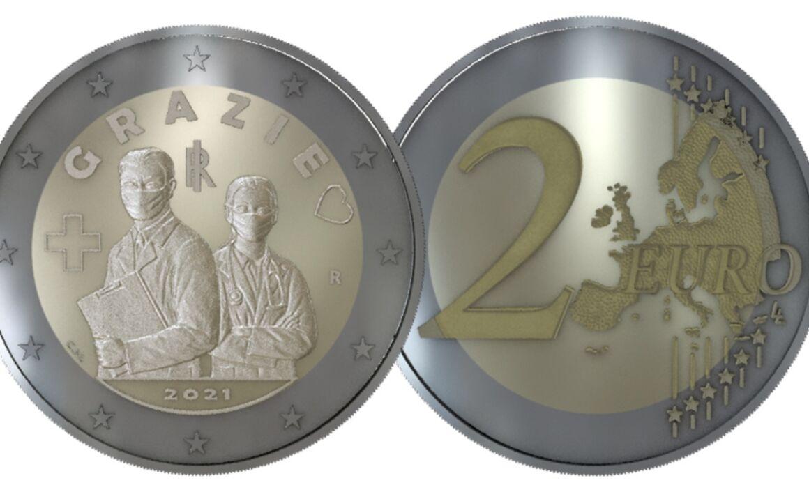 Valore moneta da due euro Professioni sanitarie