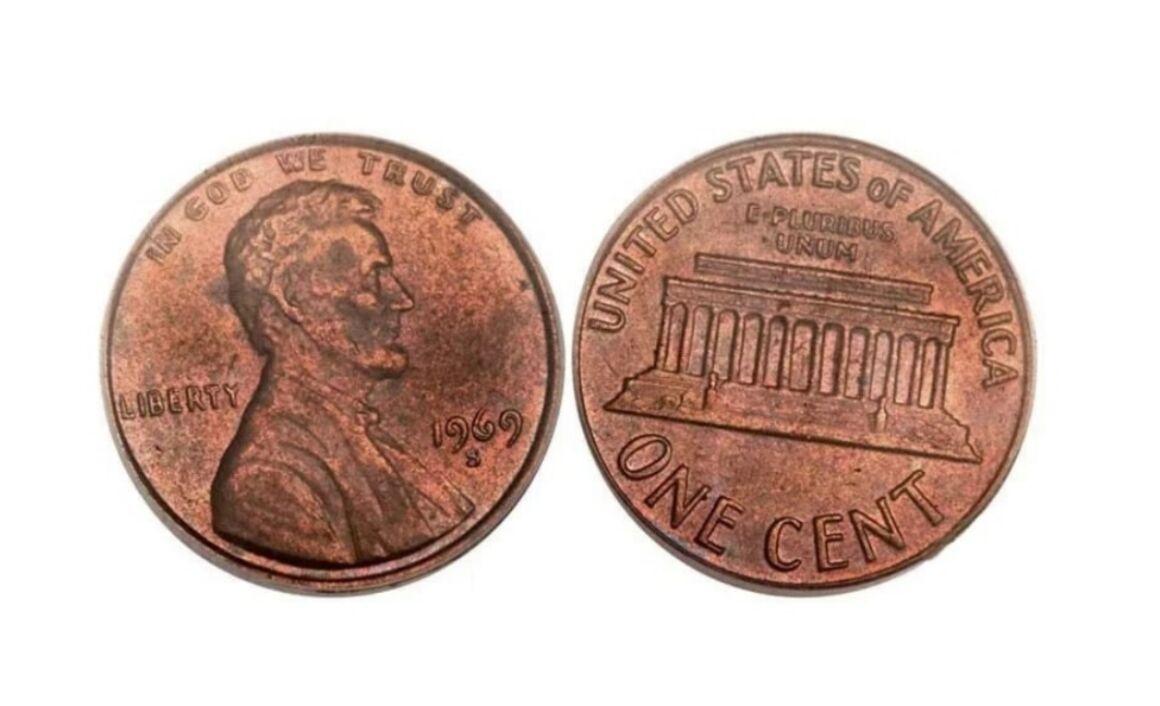 Valore della moneta da 1 Centesimo di Dollaro 1969-S Lincoln Penny–Doubled