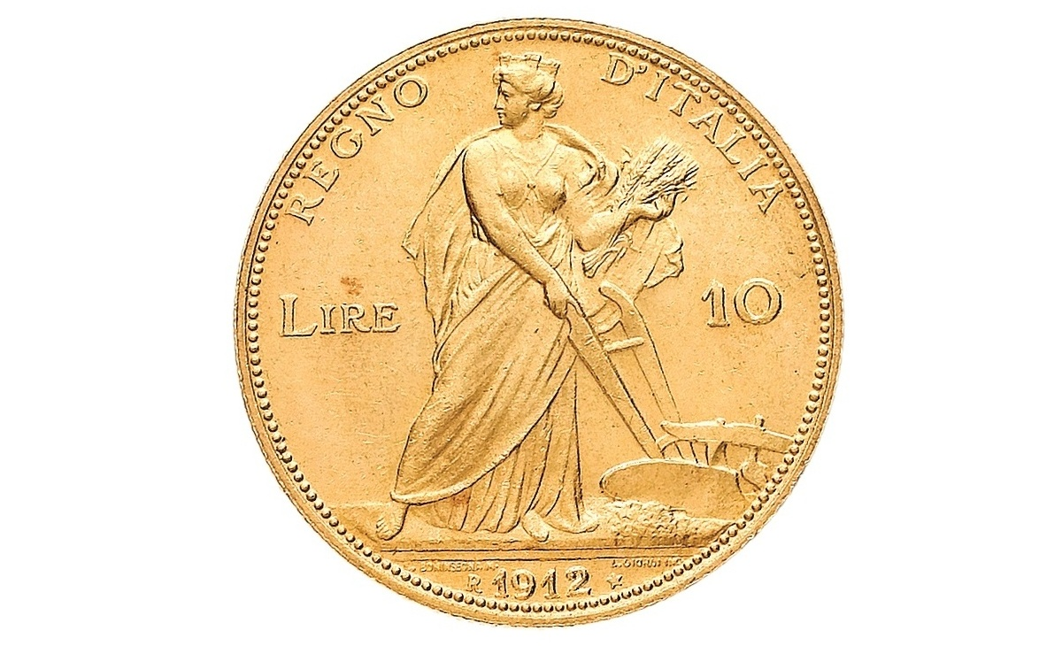 Valore della moneta da 10 Lire Aratrice