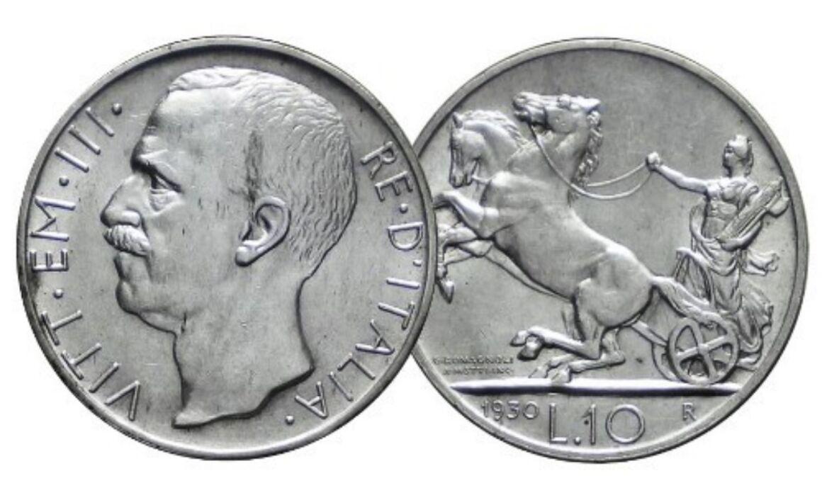 Valore della moneta 10 Lire Biga