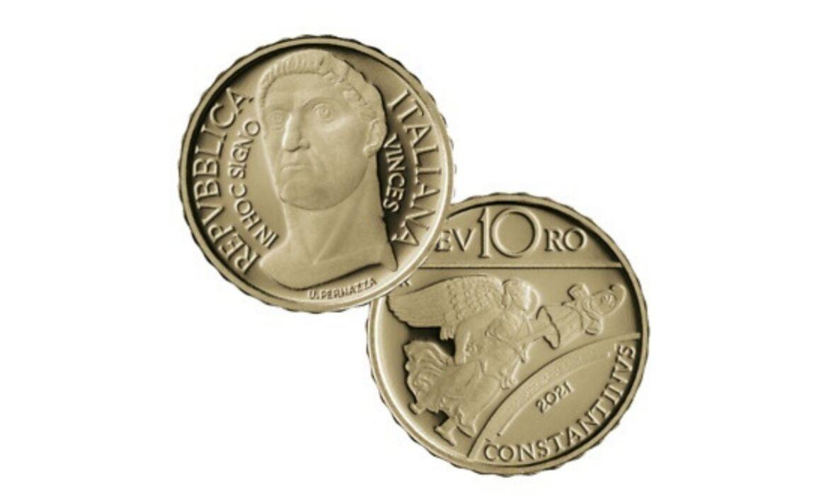 Valore moneta da 10 euro - Costantino - Serie Imperatori Romani