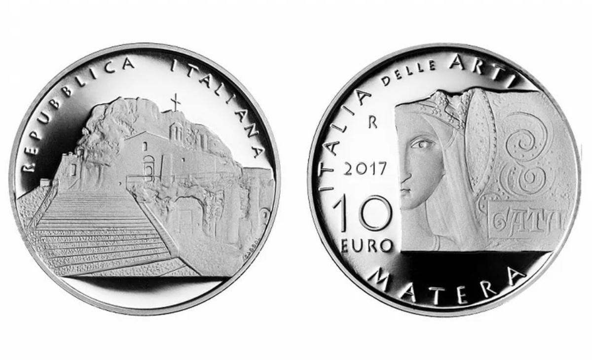 Prezzo e caratteristiche della moneta da 10 euro Sassi di Matera
