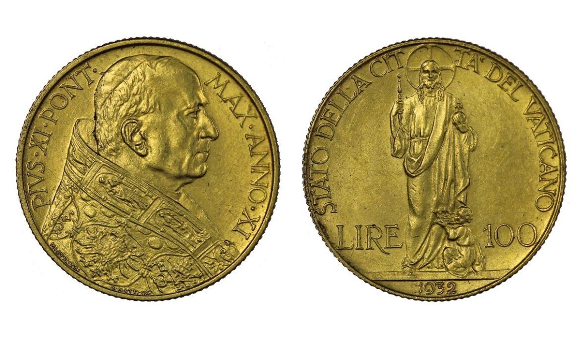 Valore della moneta da 100 lire Papa Pio XI