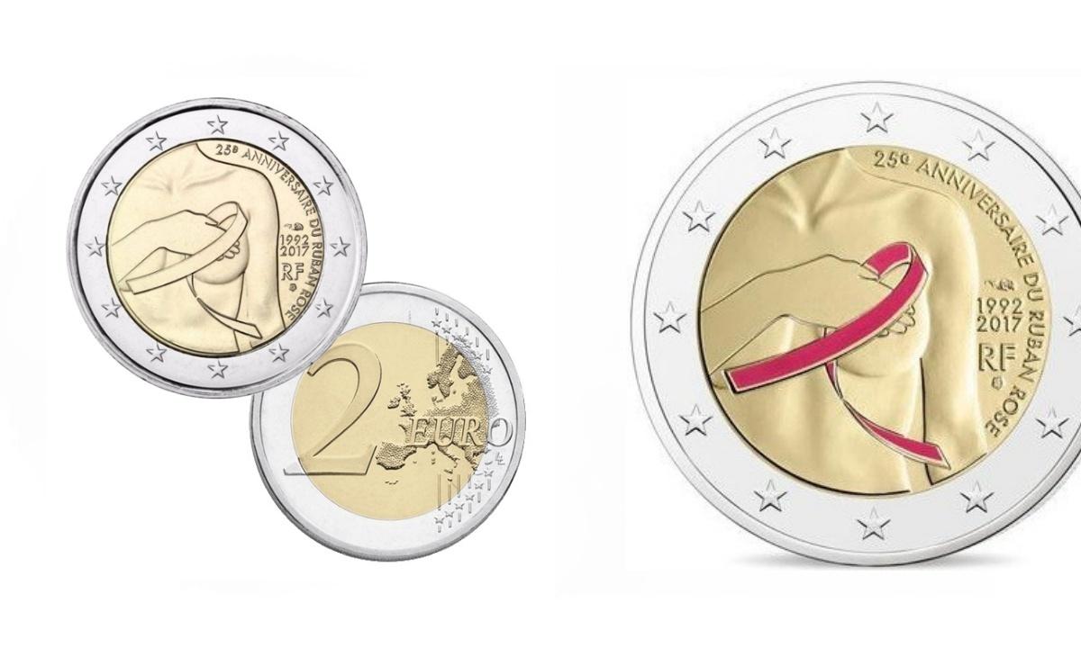 2 Euro Commemorativi Francia 2017 – Nastro Rosa