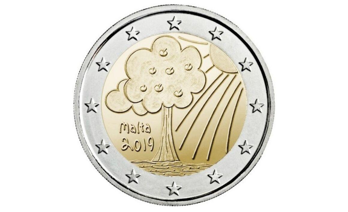 Valore e caratteristiche della moneta da 2 Euro Malta 2019 - Natura e Ambiente Cornucopia