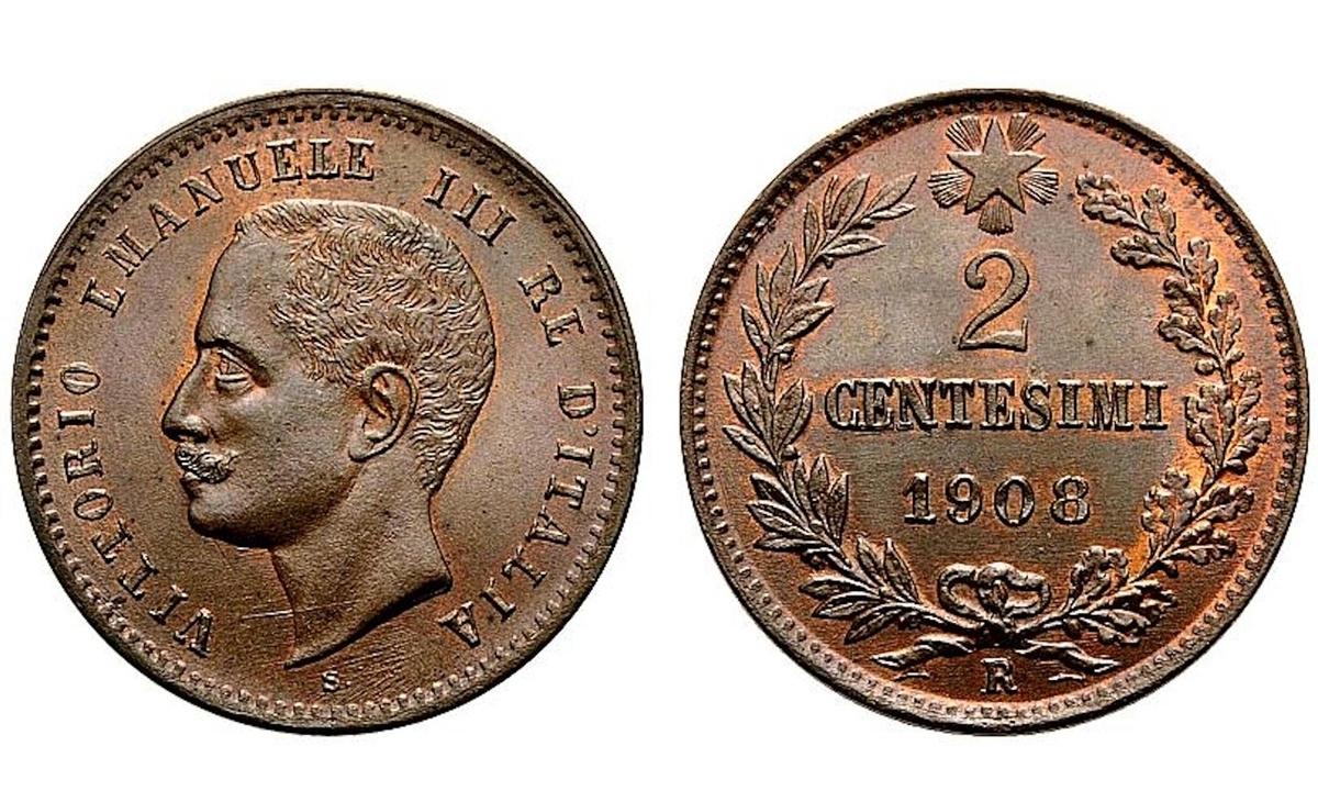 2 centesimi Vittorio Emanuele III