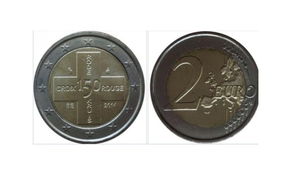 Valore moneta da 2 euro Commemorativi Belgio 2014 - Croce Rossa