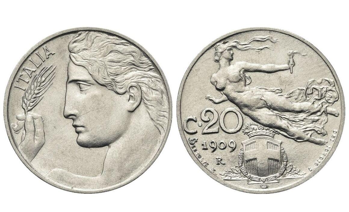 Valore della moneta da 20 Centesimi Libertà Librata - Vittorio Emanuele III