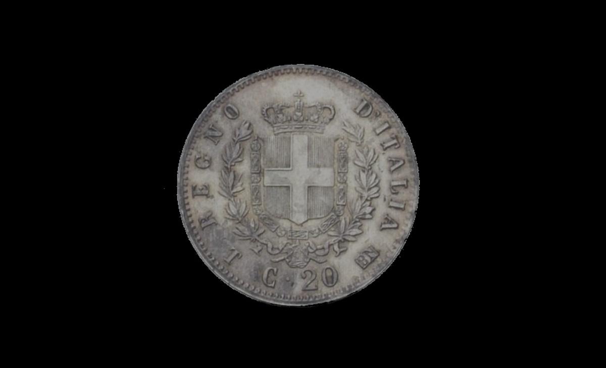 "20 centesimi 1863 ""Stemma"" Vittorio Emanuele II"