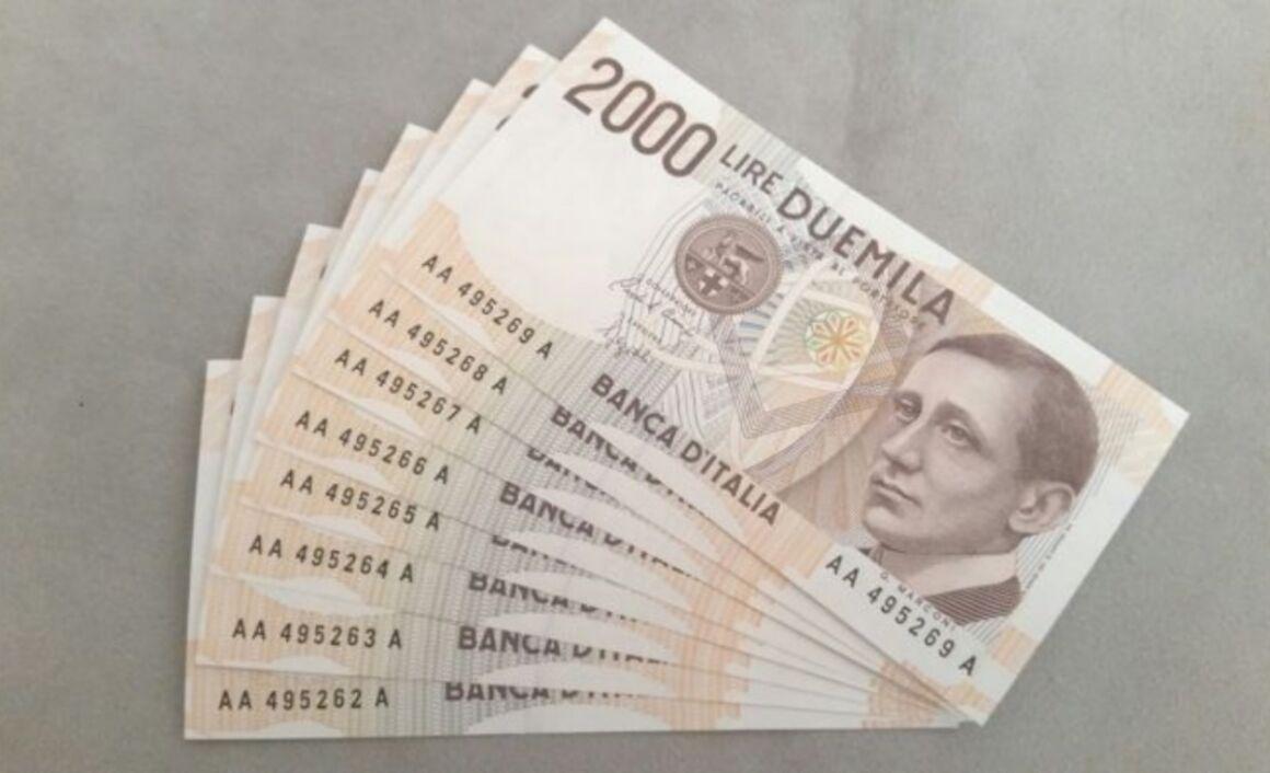 Valore della banconota da 2000 Lire Guglielmo Marconi