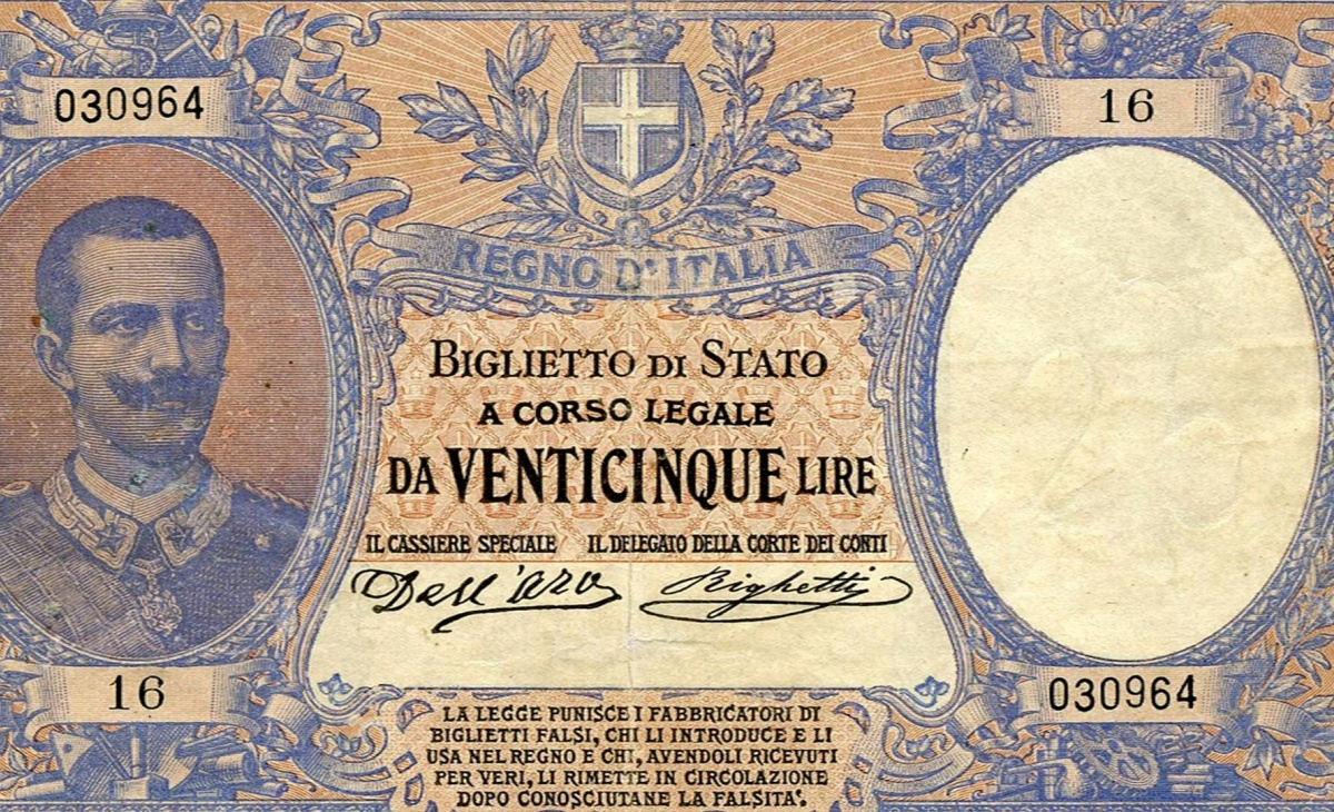 25 lire Vittorio Emanuele III del 1902