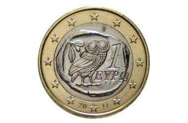 Valore moneta da 1 Euro Gufo Grecia