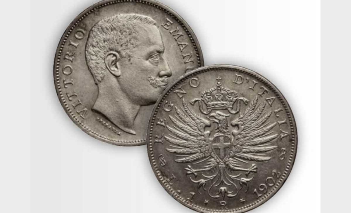 Valore moneta da 1 Lira Aquila Sabauda