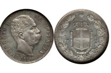Valore della moneta da 1 Lira Umberto I