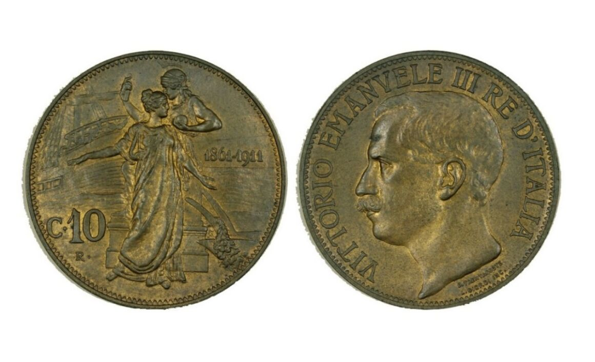 Valore della moneta da 10 Centesimi Cinquantenario