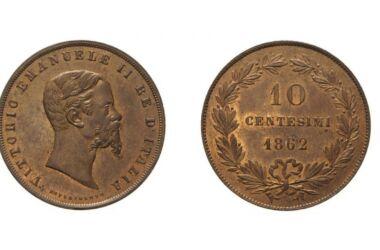 Valore della moneta da 10 Centesimi Esperimento
