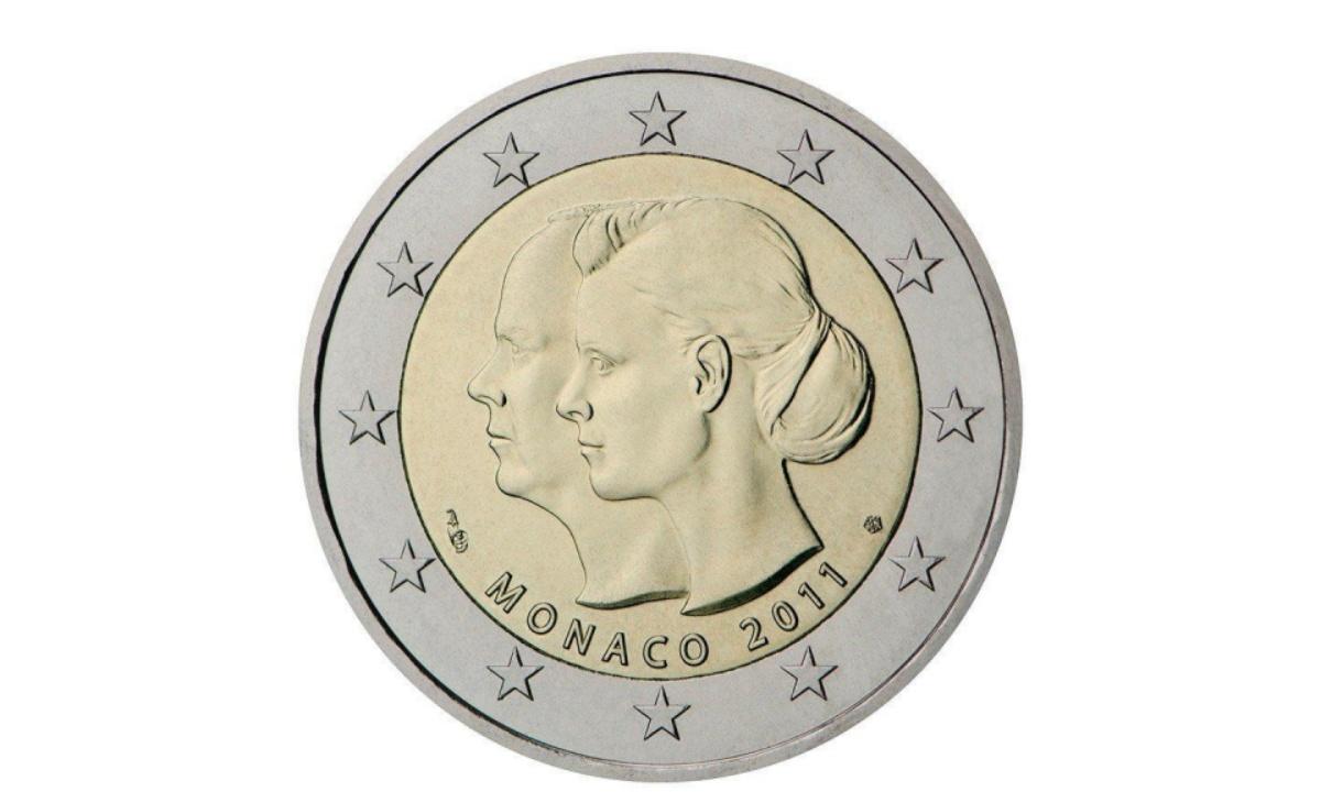 Valore moneta da 2 Euro Commemorativi Monaco 2011 – Matrimonio del principe Alberto con Charlène Wittstock