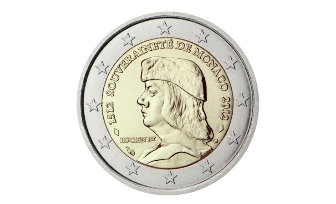 Valore moneta da 2 Euro Commemorativi Monaco 2012 – 500° Anniversario della Sovranità di Monaco