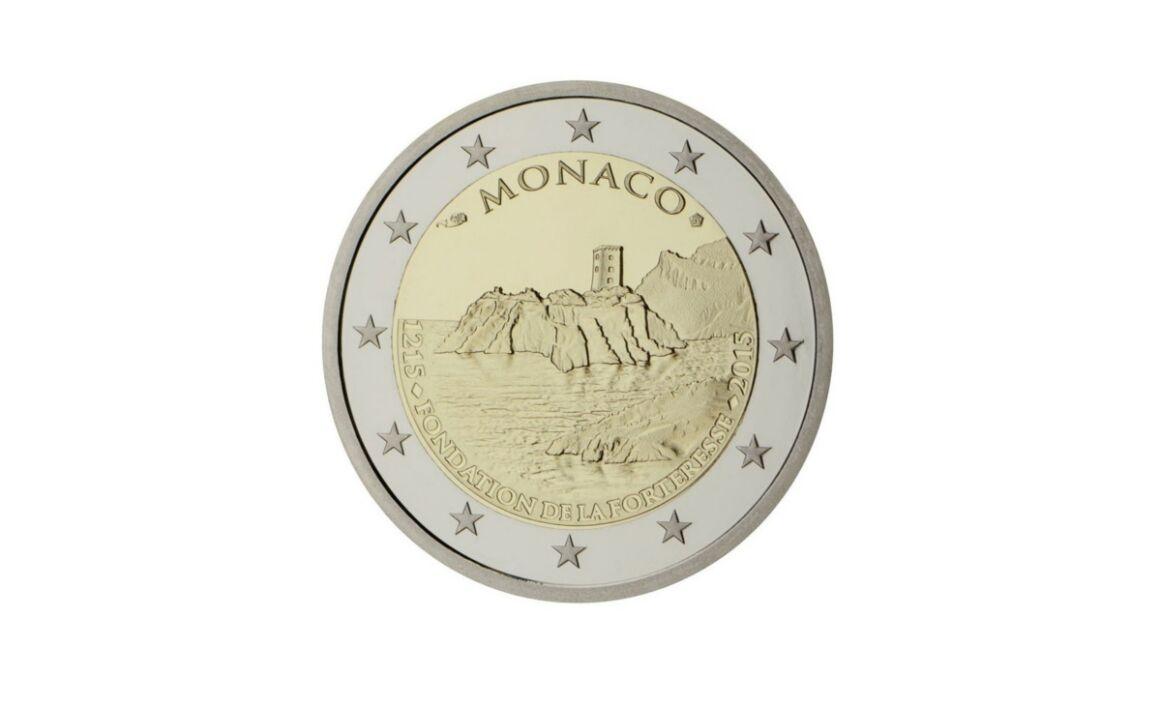 Valore 2 Euro Commemorativi Monaco 2015 – 800° anniversario costruzione fortezza della Rocca