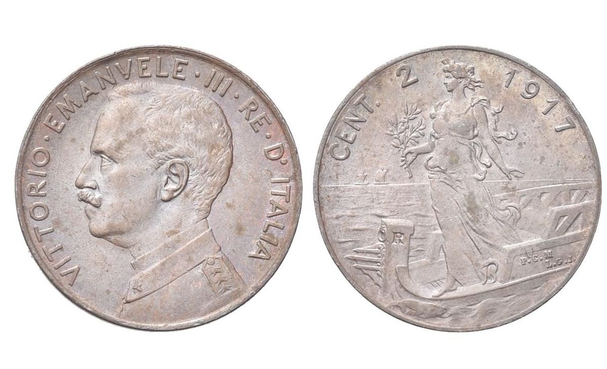 Valore moneta da 2 centesimi – Vittorio Emanuele III Italia su Prora