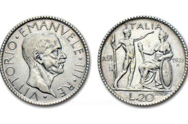 Valore della moneta da 20 Lire Littore