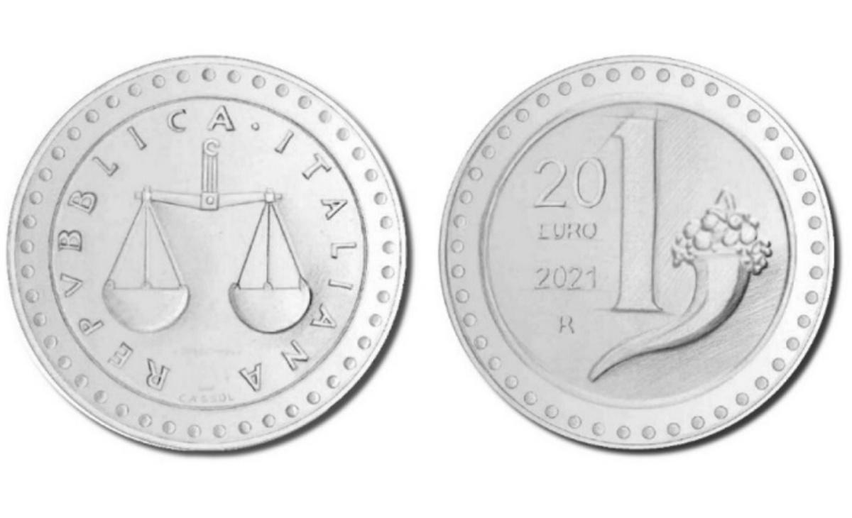 Valore della moneta da 20 euro La riedizione della Lira - 1 Lira