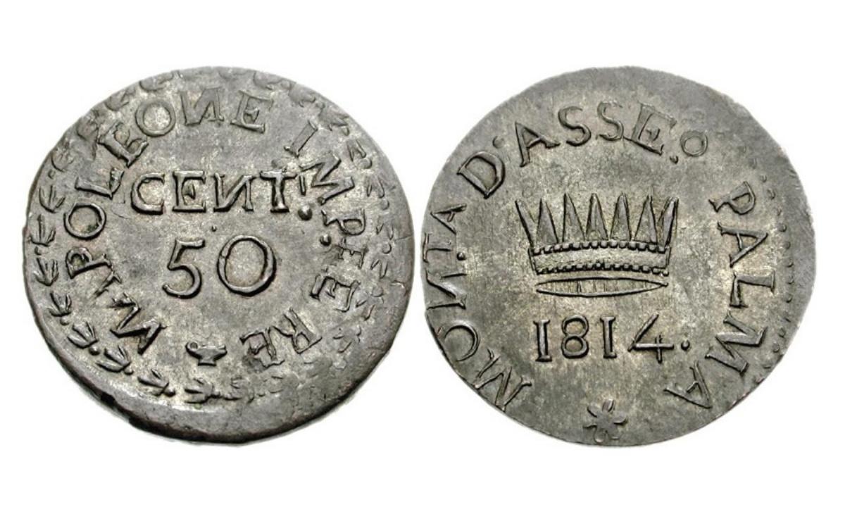 Valore delle moneta da 50 Centesimi Lire Napoleone I Palmanova