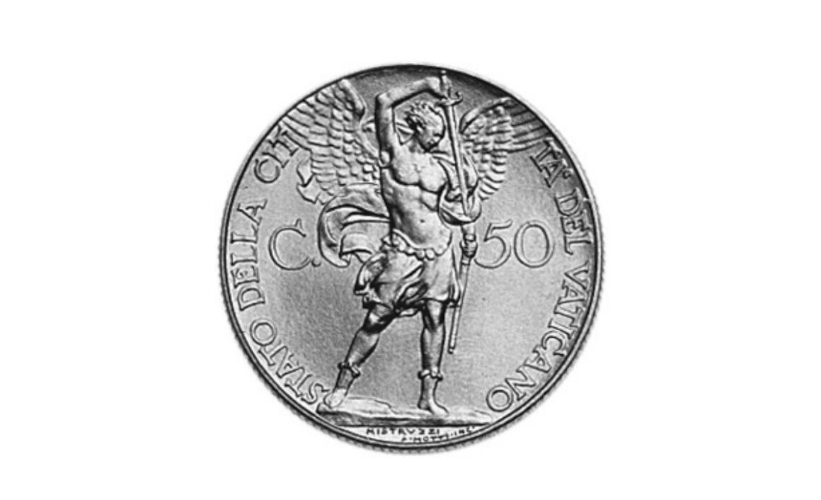Valore moneta da 50 Centesimi Lire Vaticano Pio XI
