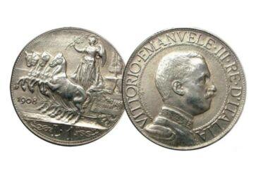 Valore moneta da 1 Lira Quadriga Veloce