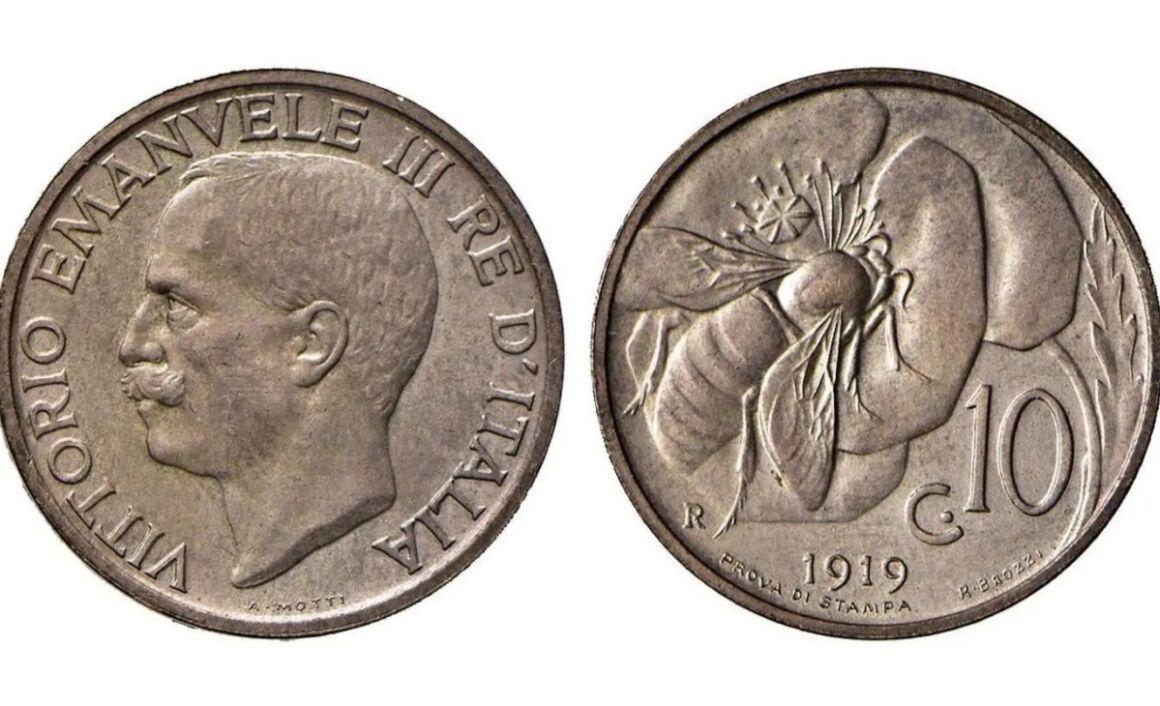 Valore moneta da 10 Centesimi Ape PROVA