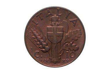 Valore moneta da 10 Centesimi Impero 1° Tipo Rame