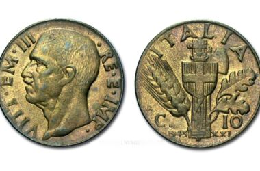 Valore moneta da 10 Centesimi Impero 2° Tipo Bronzital