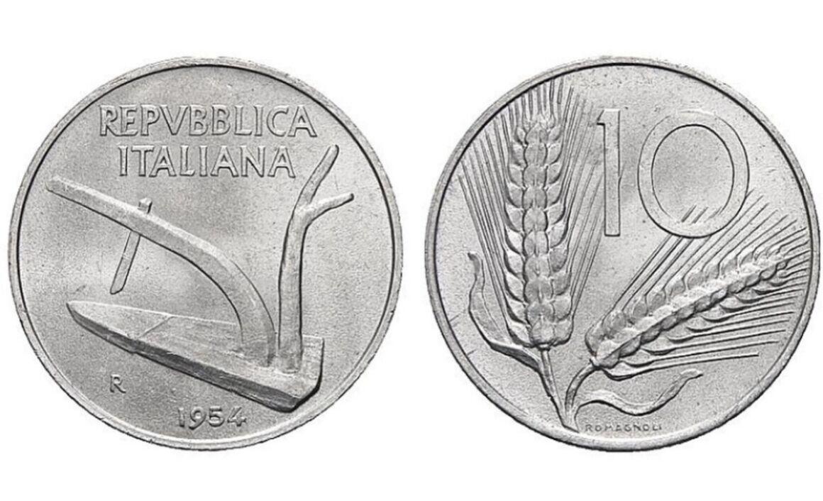 Valore moneta da 10 Lire Spiga
