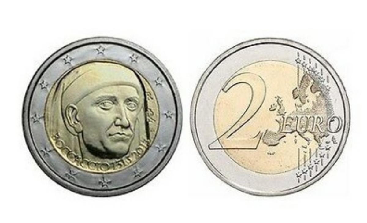 Valore moneta da 2 Euro Commemorativi 2013 – 700° anniversario della nascita di Giovanni Boccaccio