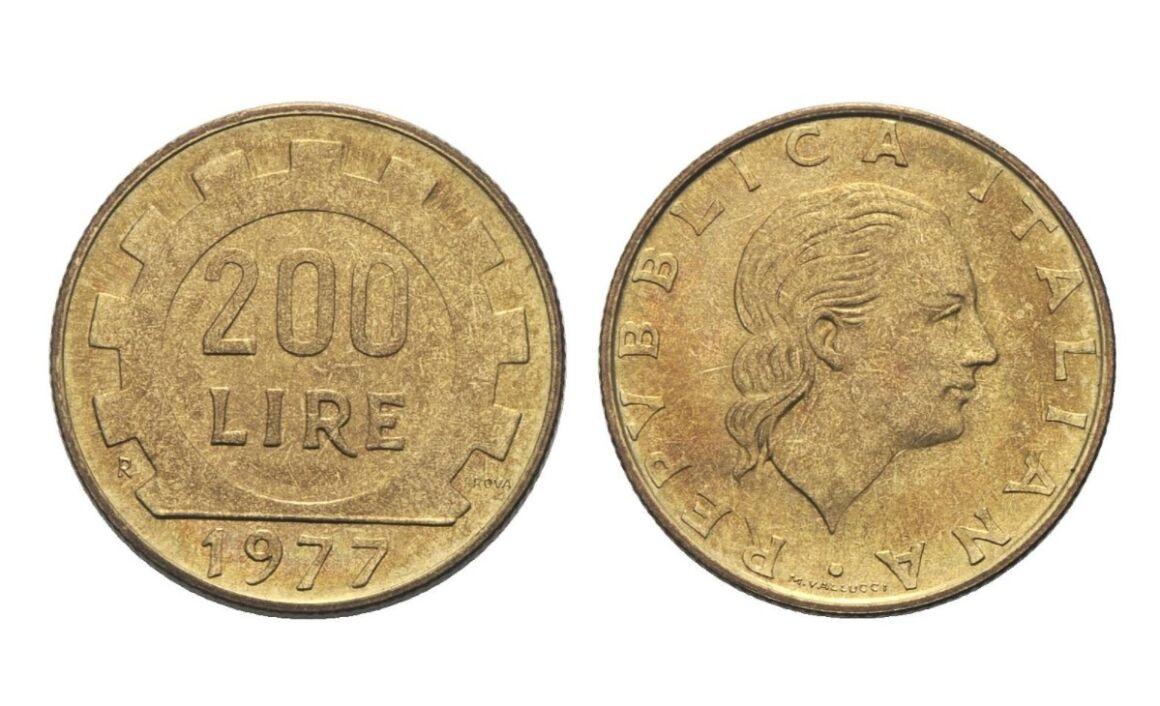 Valore moneta da 200 lire 1977
