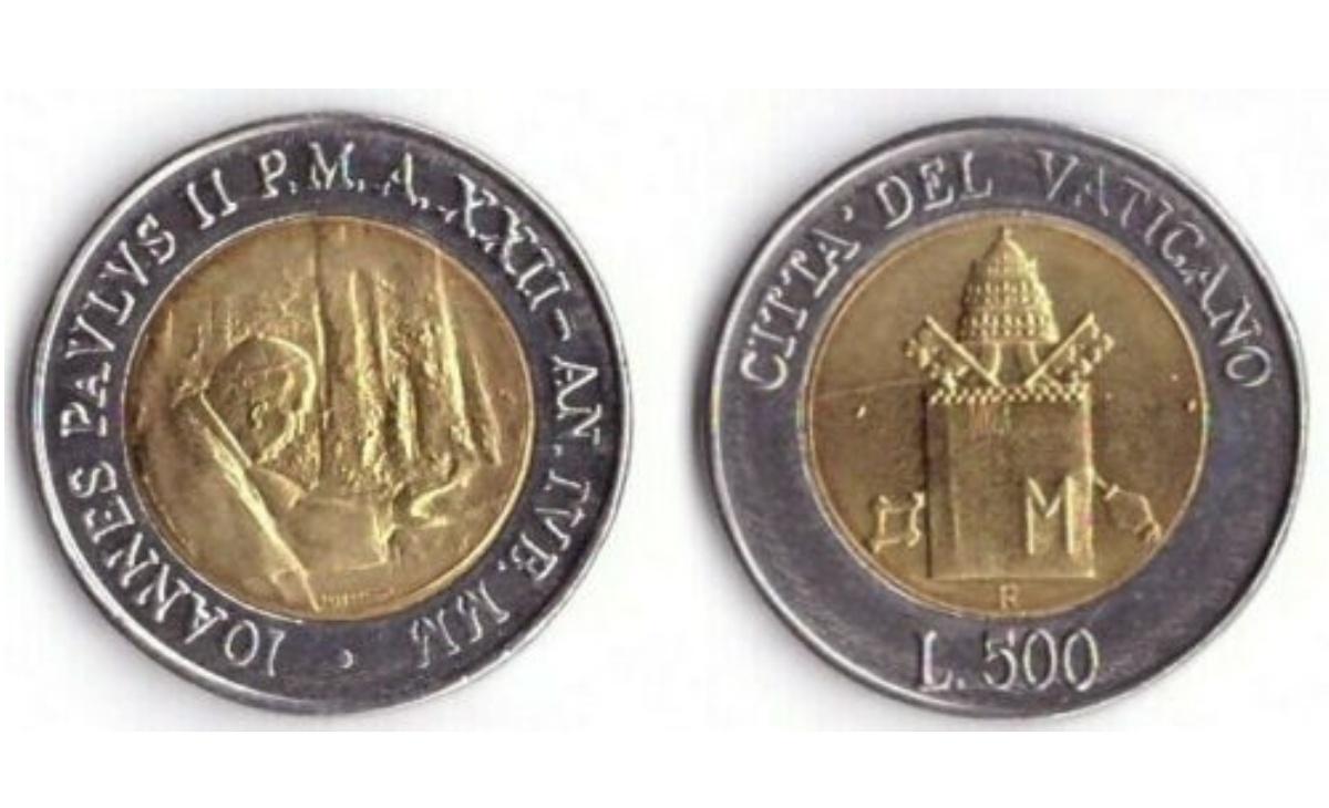 Valore delle 500 Lire Vaticano 2000 Pellegrinaggio in Terrasanta